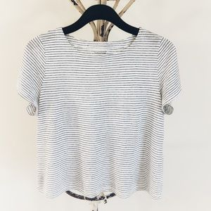 Eileen Fisher 100% Organic Linen Striped Top